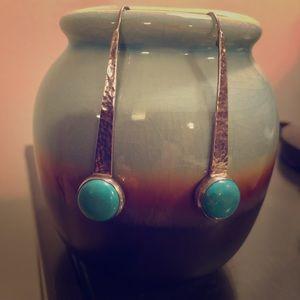 Silpada Turquoise Wire Drop Earrings NWOT